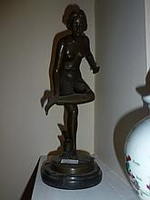 Standing Nude, bronze sculpture