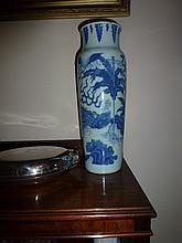 Chinese Blue And White Porcelain Vase Decorated