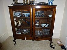 1920s Maple Display Cabinet length 107cm x 110cm