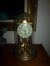 West German Mantle Clock With Glass Doom Cover