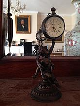 Bronze Cherub Ball Clock