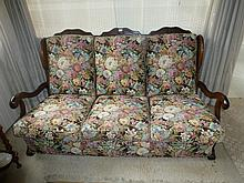 Five Piece Floral Lounge Suite Consisting Of Three