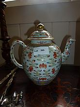 Chinese Famille Rose Teapot Highly Decorated 19cm