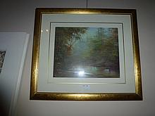 Oil On Board Never Never Creek Sign Barbra Grant