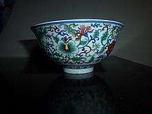 Chinese Porcelain Bowl Decorated With Flowers
