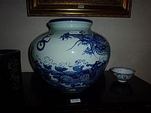 Chinese Large Blue And White Porcelain Vase