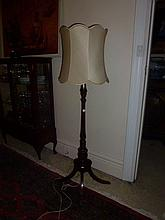 Georgian Style Mahogany Standard Lamp On Four