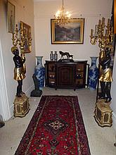 Pair Of Exceptional Blackamoor Figures Height