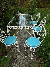 Seven Piece French Vintage Outdoor Setting