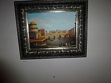 Framed oil on board, Venice, bears the signature
