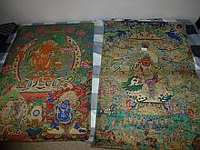 Pair Of Tibeten Scrolls