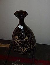 Large Chinese Pottery Vase Decorated With Flowers