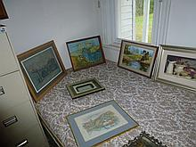 Large Assortment Of Oil Paintings And Prints