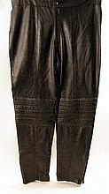 Blade II Reinhardt (Ron Pearlman) Black Faux-Leather Pants Costume