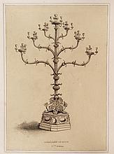 Dessin original à la mine de plomb destiné à la gravure pour l'impression, Le Candélabre de Milan XIIe