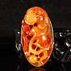 Superb Color Chinese Natural Jade Pendant Carved Chi Dragon