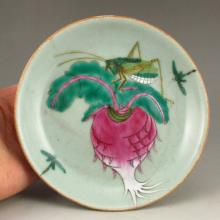Hand Draw Chinese Famille Rose Porcelain Plate