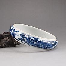Internal Diameter 70mm Chinese Blue And White Porcelain Bracelet