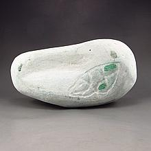 Superb Natural Jadeite Original Stone / Gamble Stone Statue