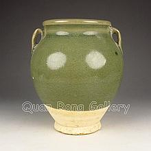 Vintage Chinese Long Quan Glaze Porcelain Pot