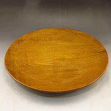 Beautiful Color Hand-carved Chinese Natural Jin Si Nan Wood Big Plate