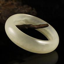 Hand Carved Chinese Natural Jade Bracelet