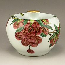 Hand-painted Chinese Gilded Enamels Porcelain Apple Shape Vase w Kang Xi Mark