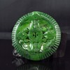 Hollow Out Carved Chinese Green Hetian Jade Pendant Fortune Bats