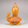 Chinese Beijing / Peking Glass Snuff Bottle - Dragon Turtle