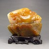 Hand Carved Chinese Natural Agate Statue w Fortune Beast