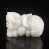 Hand-carved Chinese Natural White Hetian Jade Statue - Pi Xiu Dragon