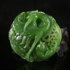 Superb Hand-carved Chinese Natural Green Hetian Jade Pendant - Eagle & Fish