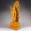 Hand-carved Chinese Natural Boxwood Wood Statue - Fire-fiend