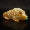 Hand-carved Chinese Natural Agate Snuff Bottle w Toad
