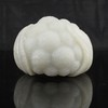 Superb Hand-carved Chinese Natural White Hetian Jade Statue - Cauliflower