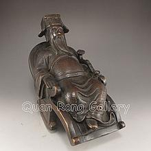 Superb Chinese Bronze Statue - Fortune Taoism Deity