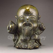 Chinese Bronze Carved Statue - Longevity Taoism Deity