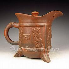 Beautiful Chinese Zisha / Purple Clay Teapot