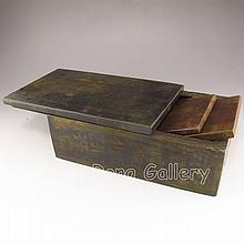 Used Vintage Hand-carved Chinese Jade Box & Seal / Printing Forme