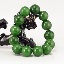 Beautiful Chinese Natural Green Hetian Jade Bracelet