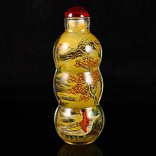 Chinese Beijing / Peking Inside Painting Snuff Bottle
