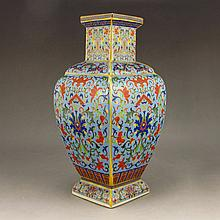 Hand-painted Chinese Gilt Enamels Porcelain Vase w Yong Zheng Mark