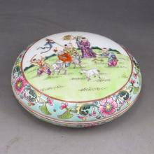 Superb Hand-painted Chinese Famille Rose Porcelain Plate w Mark