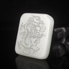 Hand-carved Chinese Natural Hetian Jade Pendant - Dragon