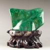 Genuine Peacock Stone Original Malachite Stone Statue