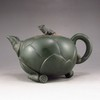 Chinese Zisha / Purple Clay Teapot w Frog & Lotus Seed & Artist Signed