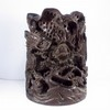 Big Hand-carved Chinese Rosewood Brush Pot w Dragon