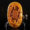 Superb Hand-carved Natural Jade Pendant - Chi Dragon