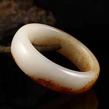 Hand Carved Chinese Natural Hetian Jade Bracelet