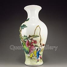 Hand-painted Chinese Famille Rose Porcelain Vase
